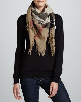 Burberry Check Extrafine Wool Scarf, House
