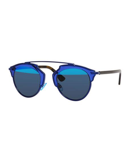 Real Brow Sunglasses Dark Blue So Bar htQrdCs