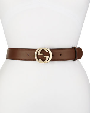 42ae93e6bf0 Gucci Wide Adjustable GG-Buckle Belt