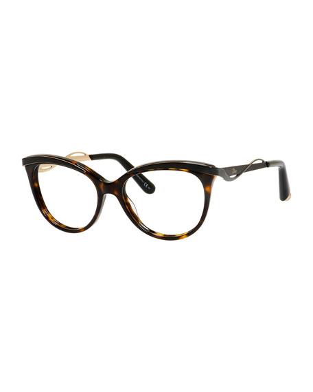 Dior Wavy-Brow Fashion Glasses