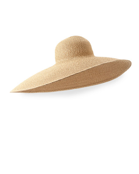 Eric Javits Giant Floppy Sun Hat, Peanut