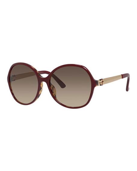 Gucci Sunsights Butterfly Universal-Fit Sunglasses