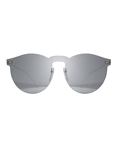 Rimless Mirrored Sunglasses, Gray