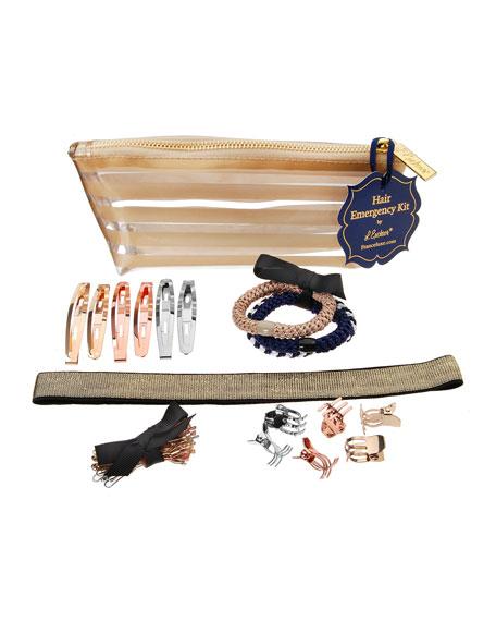 The Finest Accessories Hair Styling Emergency Kit, Gold Stripes