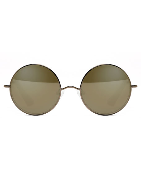 Mott Mirrored Round Sunglasses