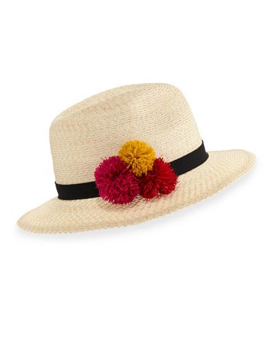 Lillian Hemp-Blend Fedora Hat  Ivory