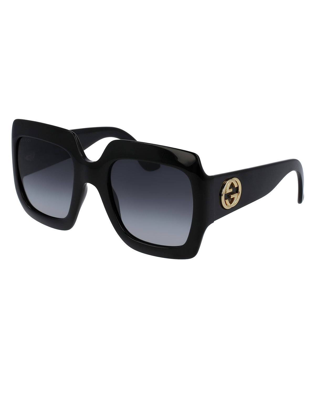 37b425d730 Oversized Square Sunglasses, Black