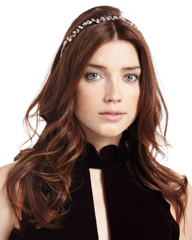 Jennifer Behr Adelie Crystal Leaf Circlet Headband gx4b3ND