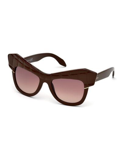 Oversize Acetate Cat-Eye Sunglasses