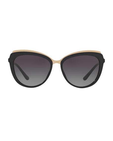 Metal-Trim Gradient Cat-Eye Sunglasses