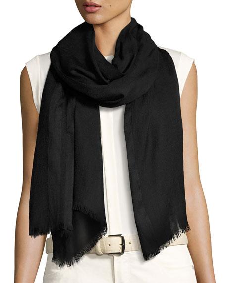 Shadow Striped Cashmere & Silk Stole