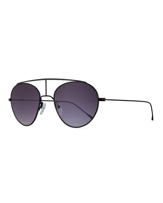 d48fd0525e Smoke X Mirrors Geo VI Round Stainless Steel Sunglasses