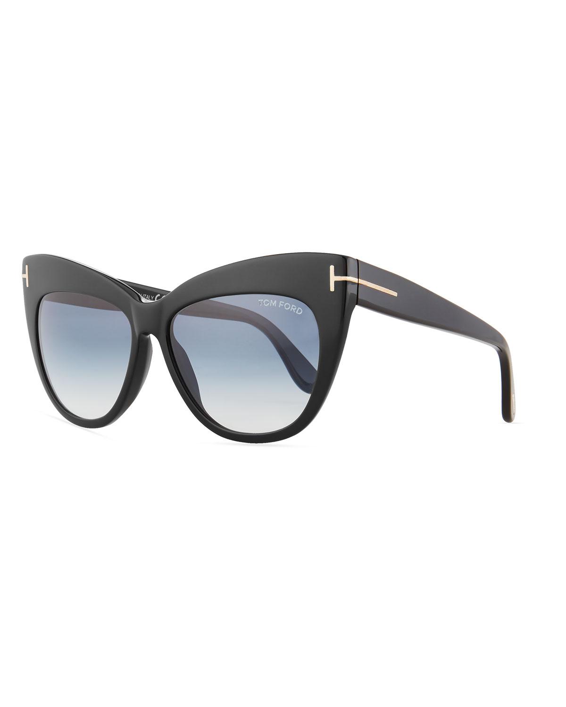 e6b57d4241a TOM FORD Nika Acetate Cat-Eye Sunglasses