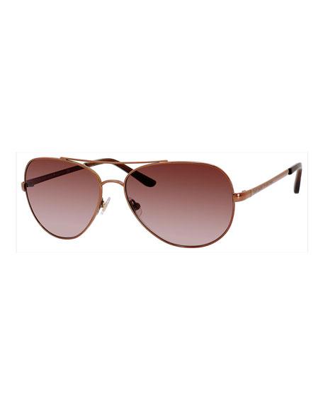 kate spade new york avalis metal aviator sunglasses