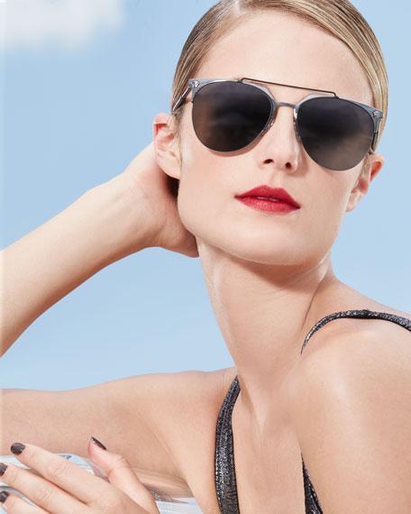 Semi-Rimless Aviator Sunglasses