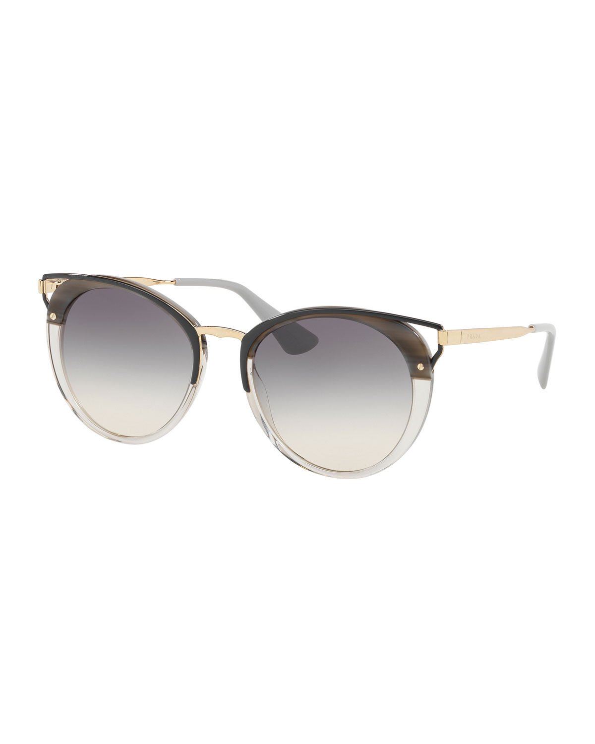 17e3c577014 Quick Look. Prada · Cutout Round Sunglasses
