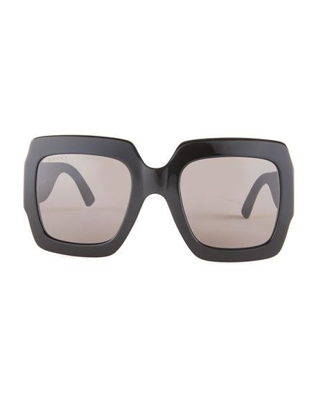 a9ec362a075 Image 3 of 4  Gucci Glittered Square GG Sunglasses