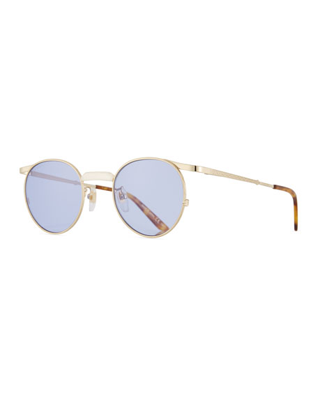 Gucci Coin-Edge Round Metal Sunglasses