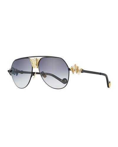 Miss Rosell 110th Anniversary Aviator Sunglasses