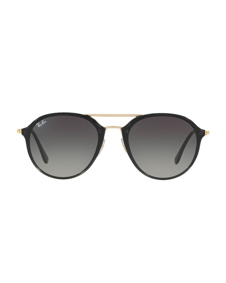 Ray-Ban Round Gradient Mirrored Sunglasses