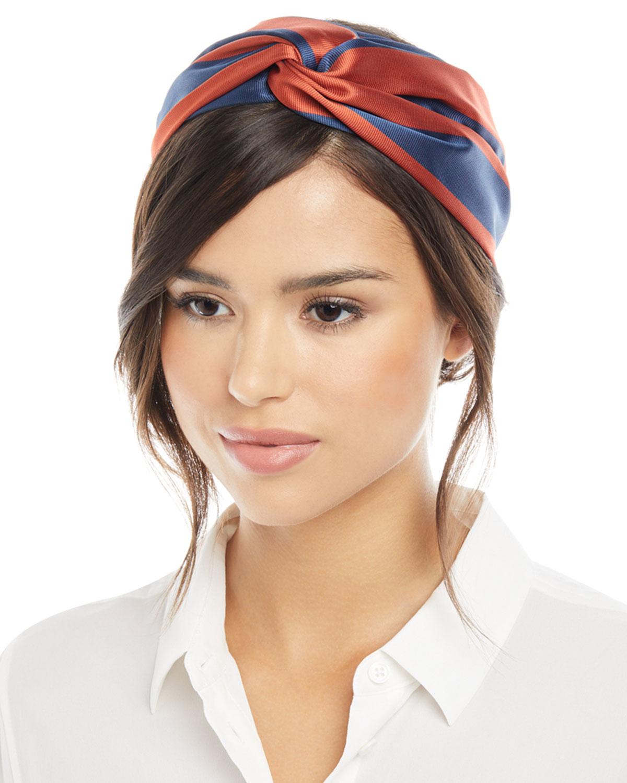 Jennifer Behr Ingrid Silk Turban Headband  19bd8a99641