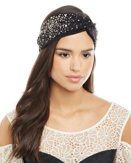 Jennifer Behr Silk Satin Turban Head Wrap w/