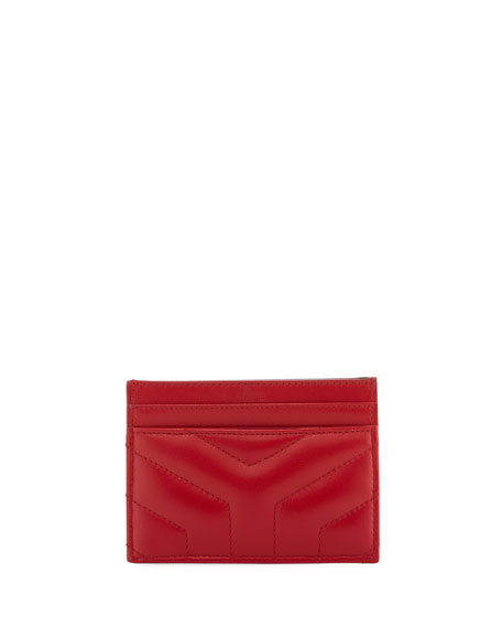 Loulou Quilted Leather Card Case