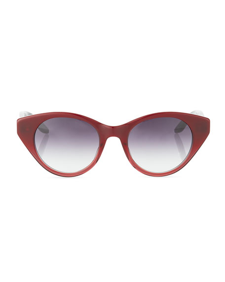 Barton Perreira Kismet Cat-Eye Monochromatic Sunglasses