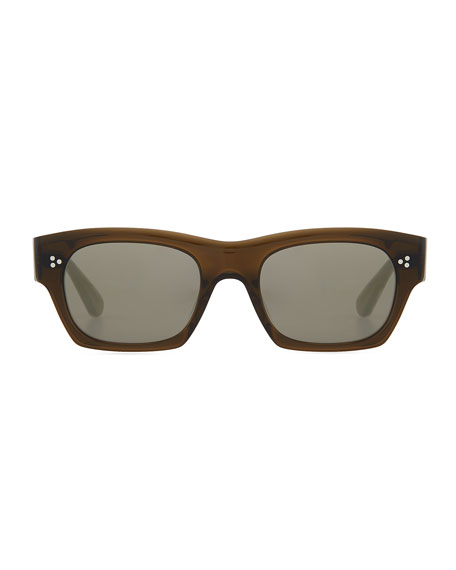Isba Mirrored Plastic Sunglasses