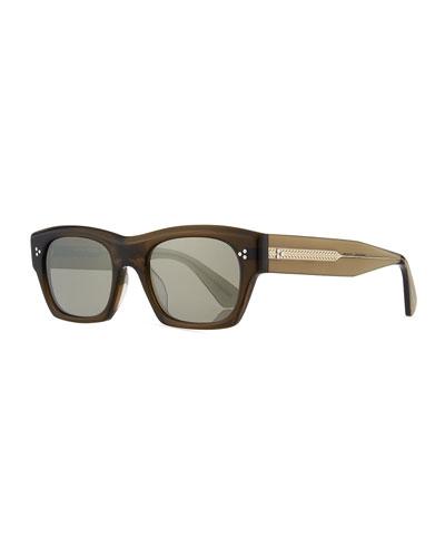 Isba Mirrored Plastic Sunglasses