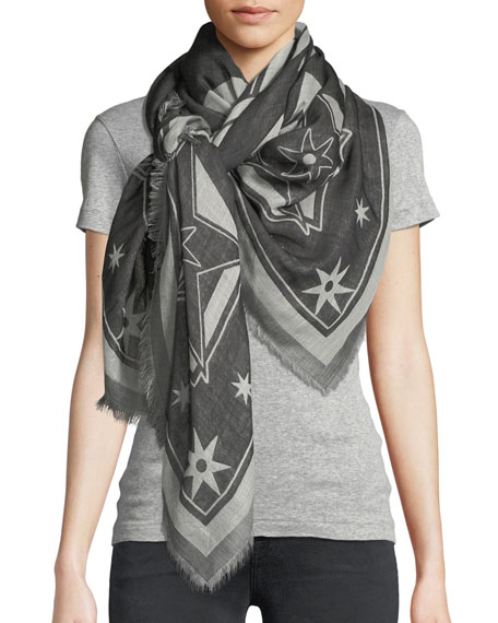 Givenchy Iconic Flash Wool-Silk Scarf