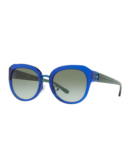 Image 1 of 3: Acetate Butterfly Gradient Sunglasses