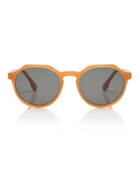 Image 2 of 3: Bang Round Plastic Keyhole Sunglasses