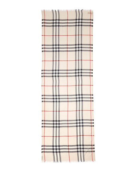 Image 2 of 2: Giant Check Gauze Scarf
