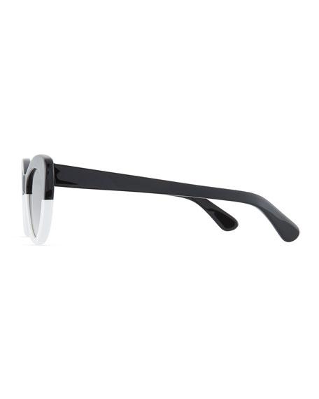 Illesteva Pamela Two-Tone Cat-Eye Sunglasses