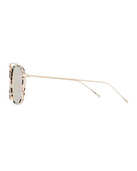 Illesteva Mykonos Ace Mirrored Aviator Sunglasses