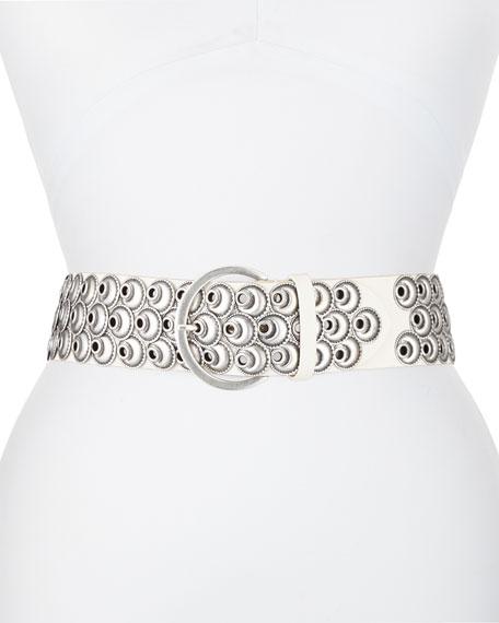 Isabel Marant Lua Metal Eyelet Leather Belt