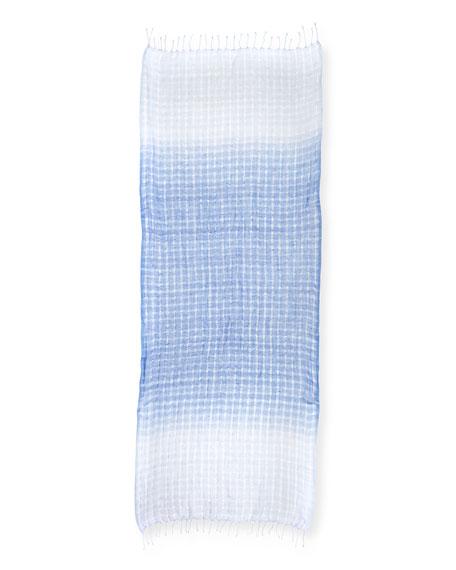 Eileen Fisher Airy Dip Dye Linen/Wool Scarf