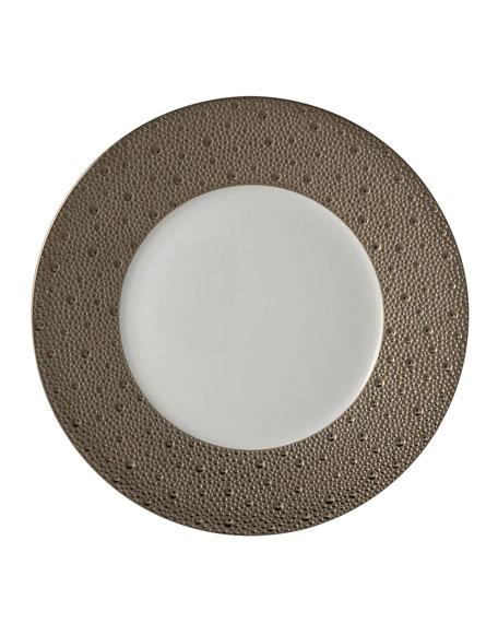 Bernardaud Ecume Platinum Dinner Plate