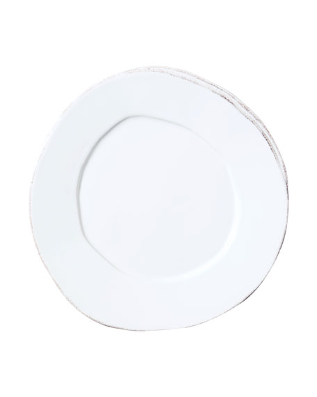 Lastra White Salad Plate