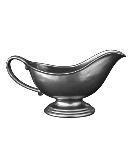 Pewter Stoneware Sauce Boat
