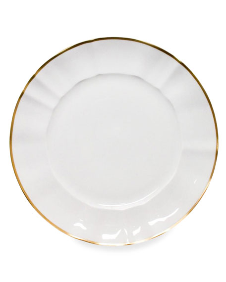 Anna Weatherley White Charger Plate with Gold Border