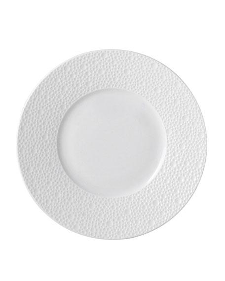 Ecume White Dinner Plate