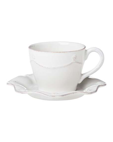 Juliska Four Berry & Thread Cups & Saucers