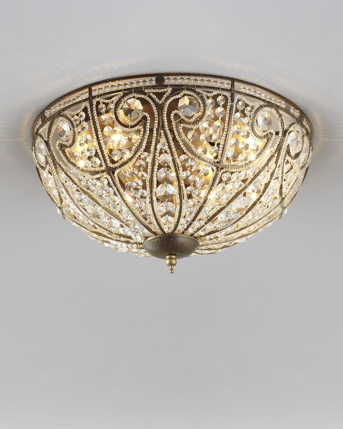 Neiman marcus lighting Pendant Light Neiman Marcus Elizabethan Large Flushmount Ceiling Light Neiman Marcus