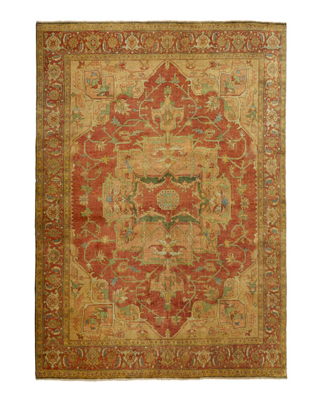 Tribute Medallion Rug, 4' x 6'