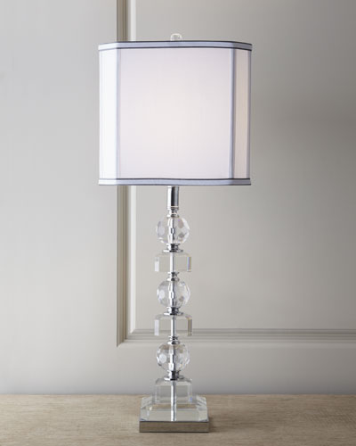 crystal table lamps vintage on sale stacked crystals lamp with prisms