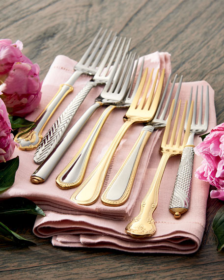 65-Piece Euro Beads Gold-Plated Flatware