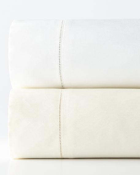 SFERRA Queen 1,020 Thread Count Lace Sateen Flat Sheet