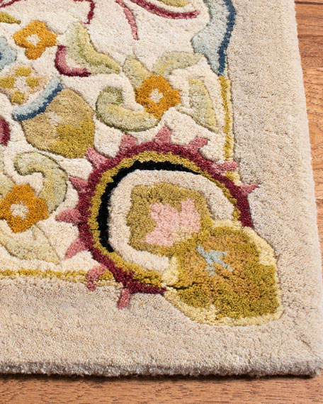 Image 3 of 5: Safavieh Feather Medallion Rug, 6' Round